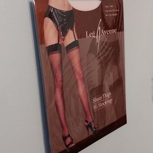 White thigh high stockings one size 90-160 lbs NWT